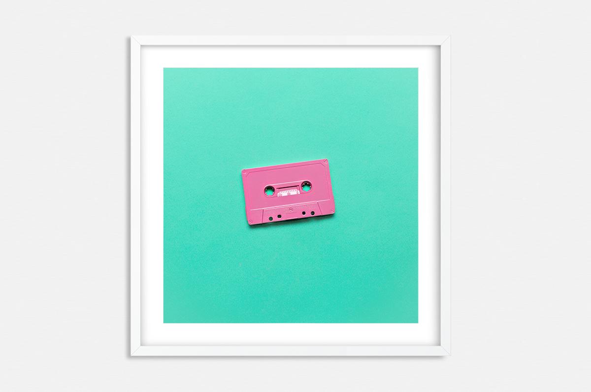 Plakat - Pop-Art kaseta magnetofonowa - fototapeta.shop