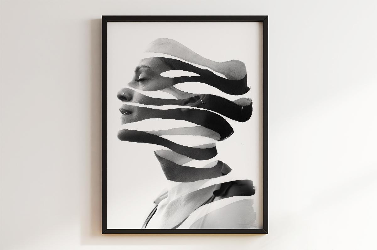 Plakat - Abstrakcyjny portret - fototapeta.shop