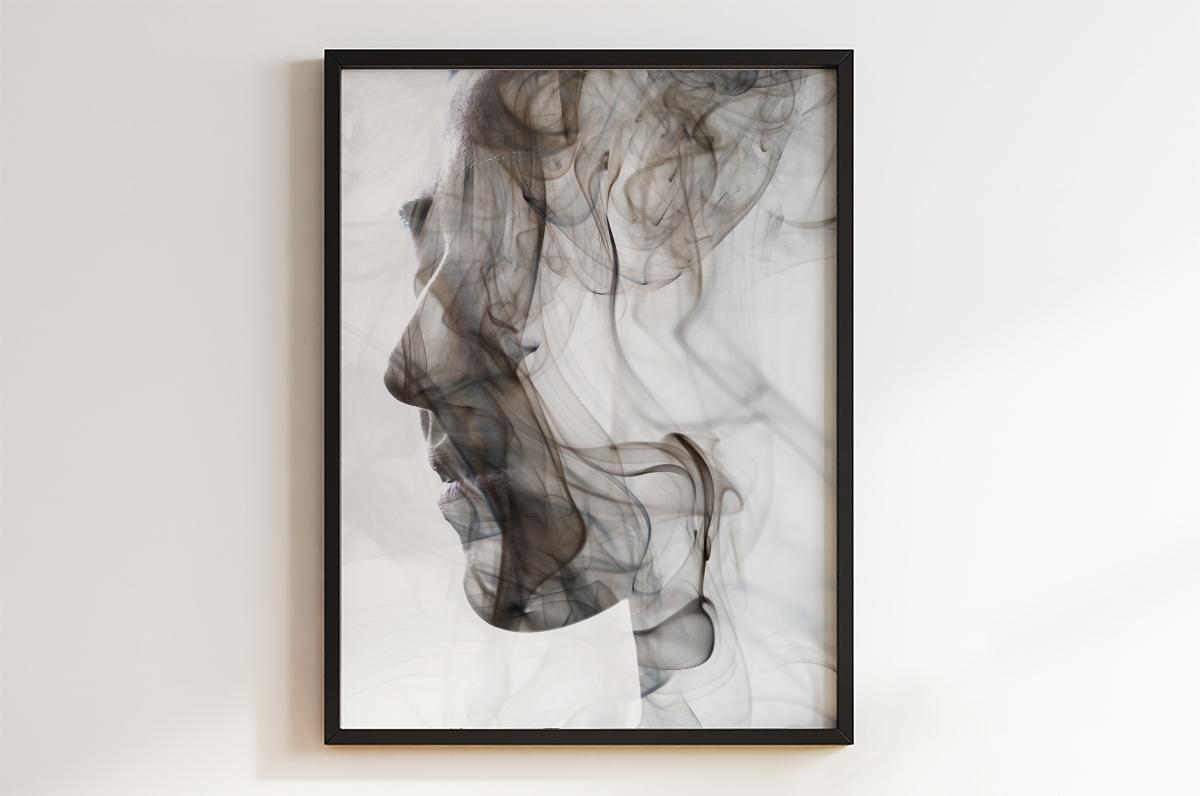 Plakat - Profil z dymu - fototapeta.shop
