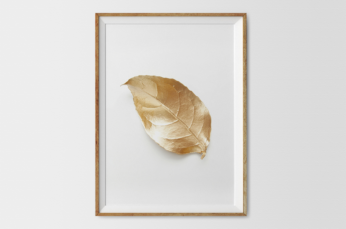 Plakat - Listek w złocie - fototapeta.shop