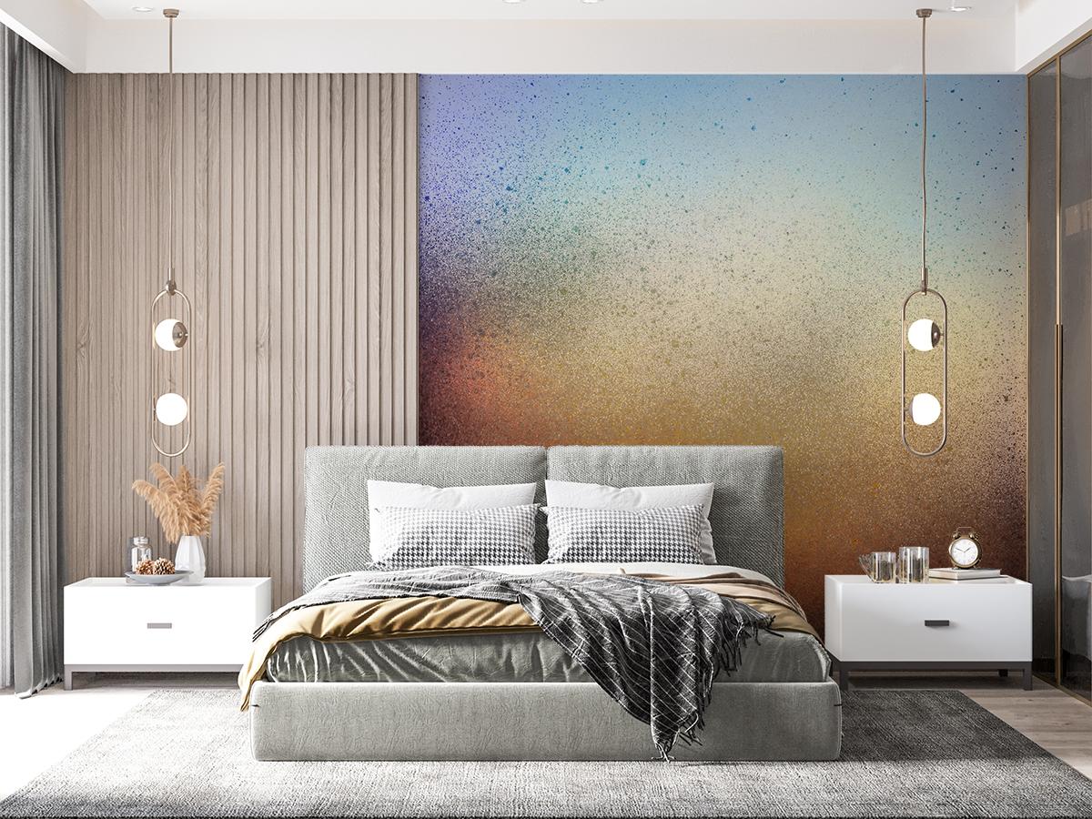 Fototapeta - Kolorowa nakrapiana metalowa tekstura - fototapeta.shop