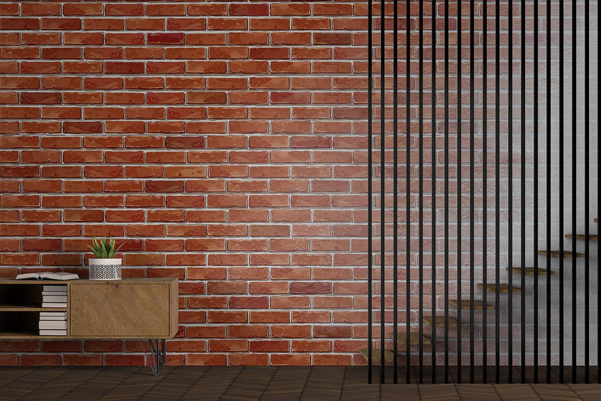 Tapeta - Mur z cegieł - fototapeta.shop
