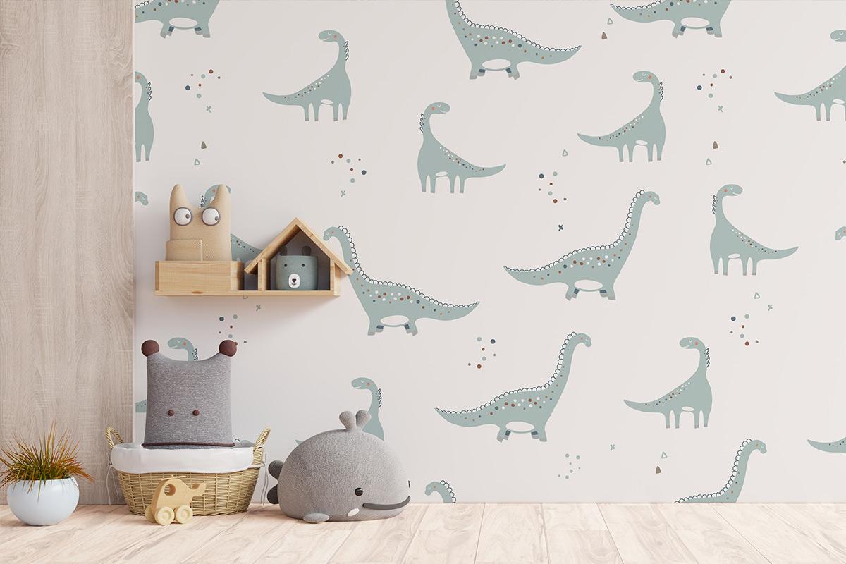 Tapeta - Przyjazne dinozaury - fototapeta.shop