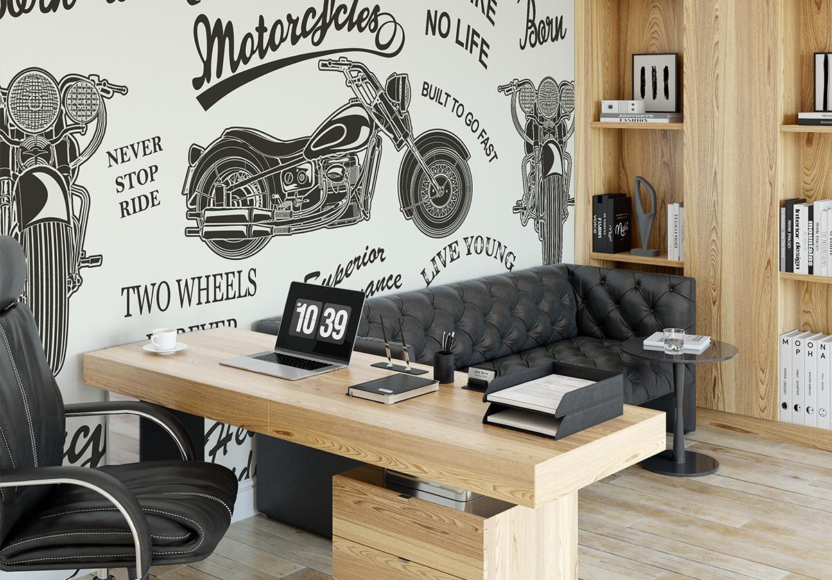 Tapeta - Motocyklowy szał - fototapeta.shop