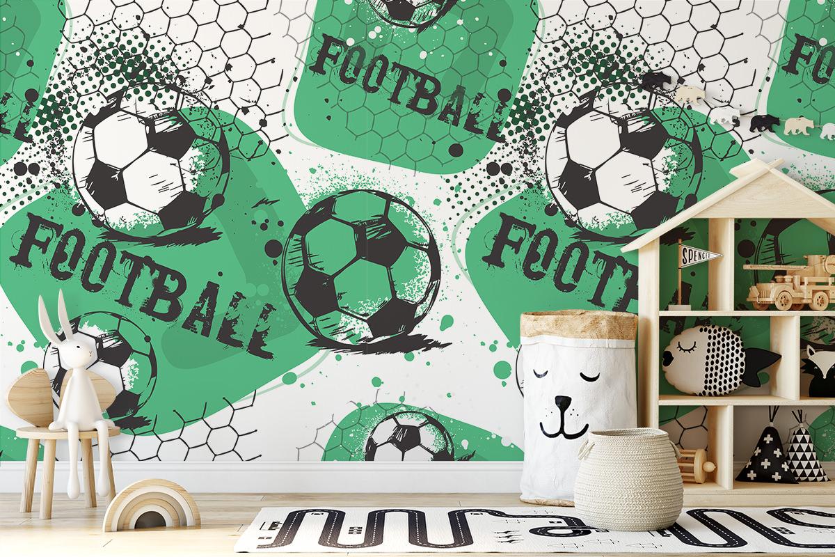 Tapeta - Piłkarski wzorek - fototapeta.shop