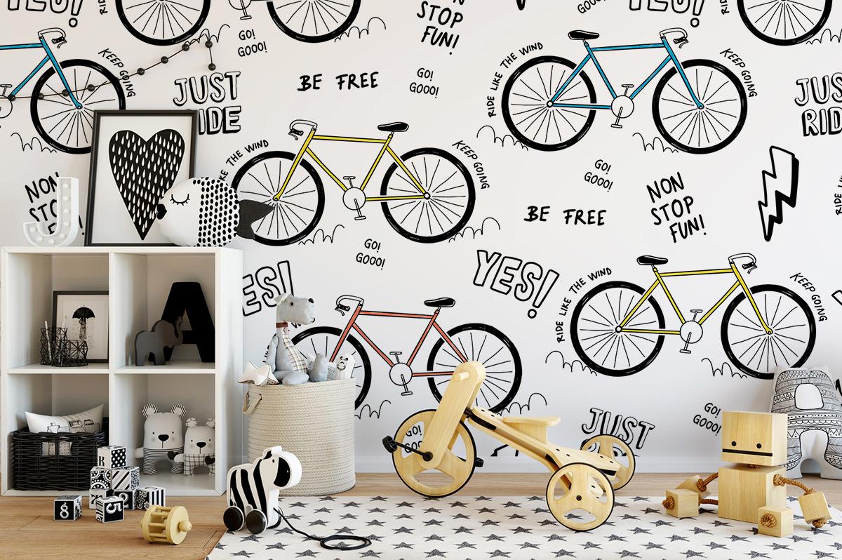 Tapeta - Kolorowe rowery - fototapeta.shop