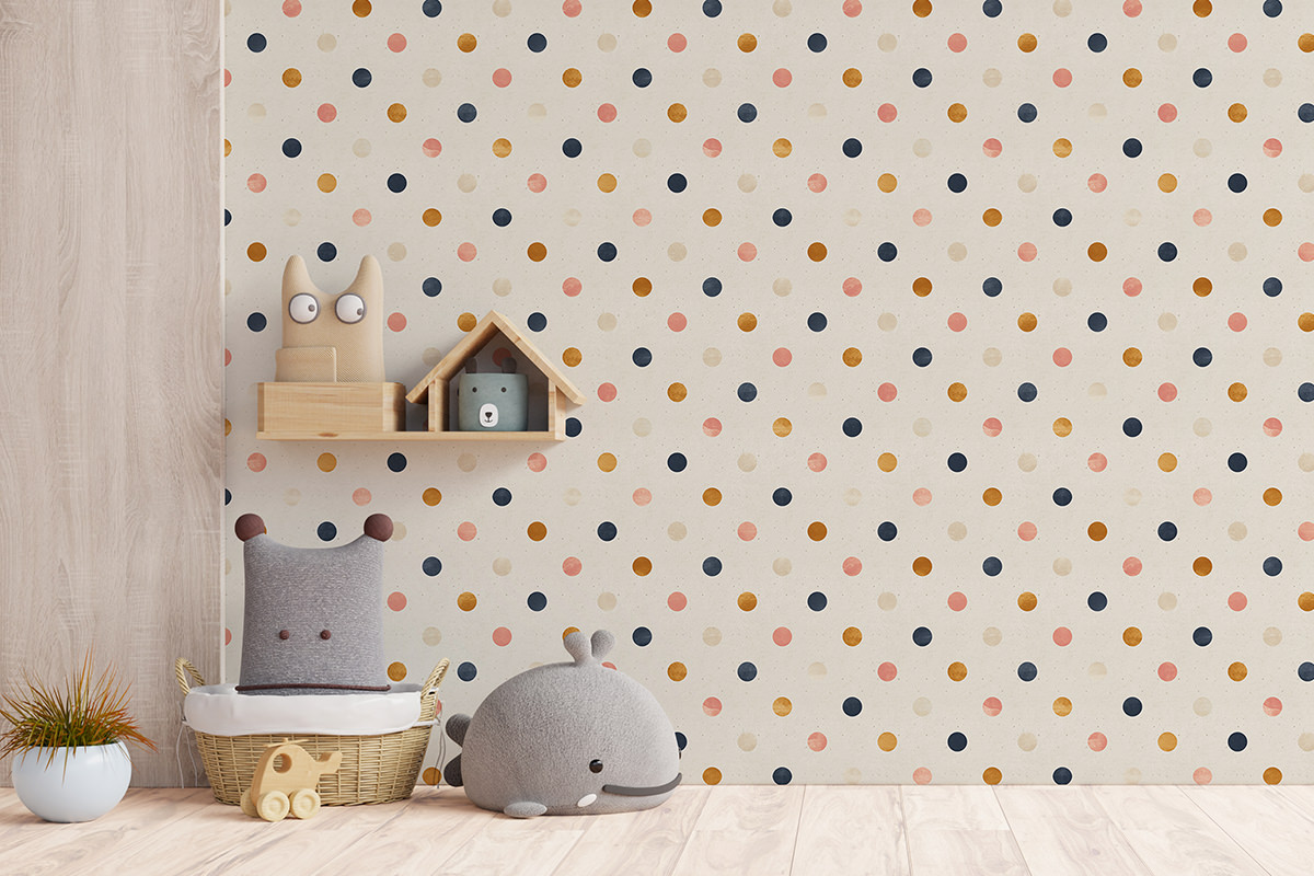 Tapeta - Pastelowe konfetti - fototapeta.shop
