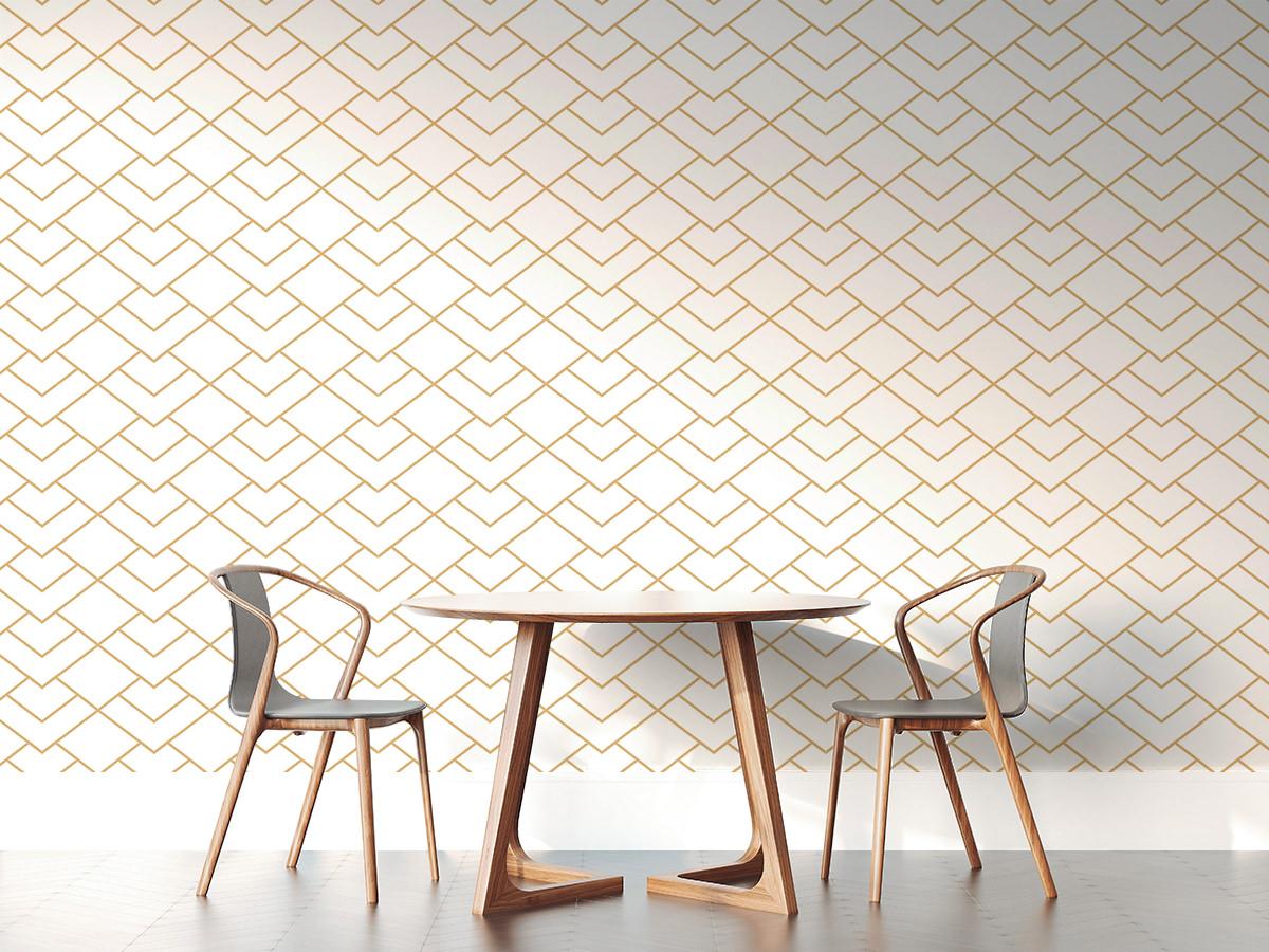 Tapeta - Złoty geometryczny wzorek - fototapeta.shop