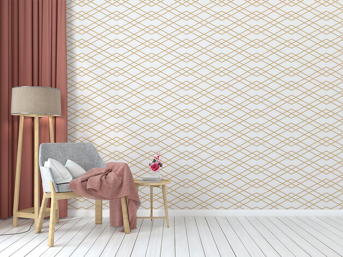 Tapeta - Złoty łańcuszek - fototapeta.shop