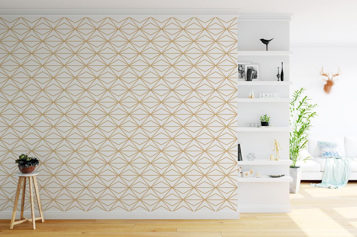 Tapeta - Złoty wzorek retro - fototapeta.shop