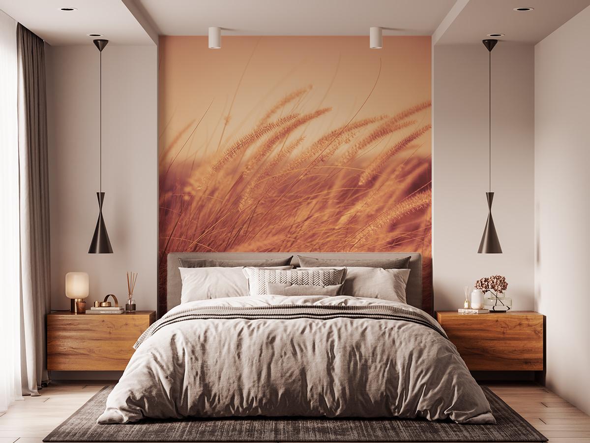 Fototapeta - Letnia łąka w przepalonych kolorach - fototapeta.shop