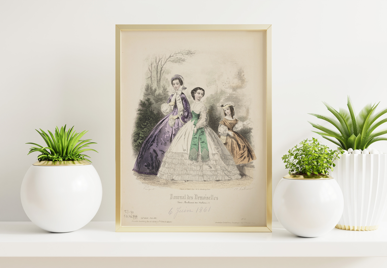 Plakat - Moda francuska XIX w. - Portier, Rytownik - fototapeta.shop