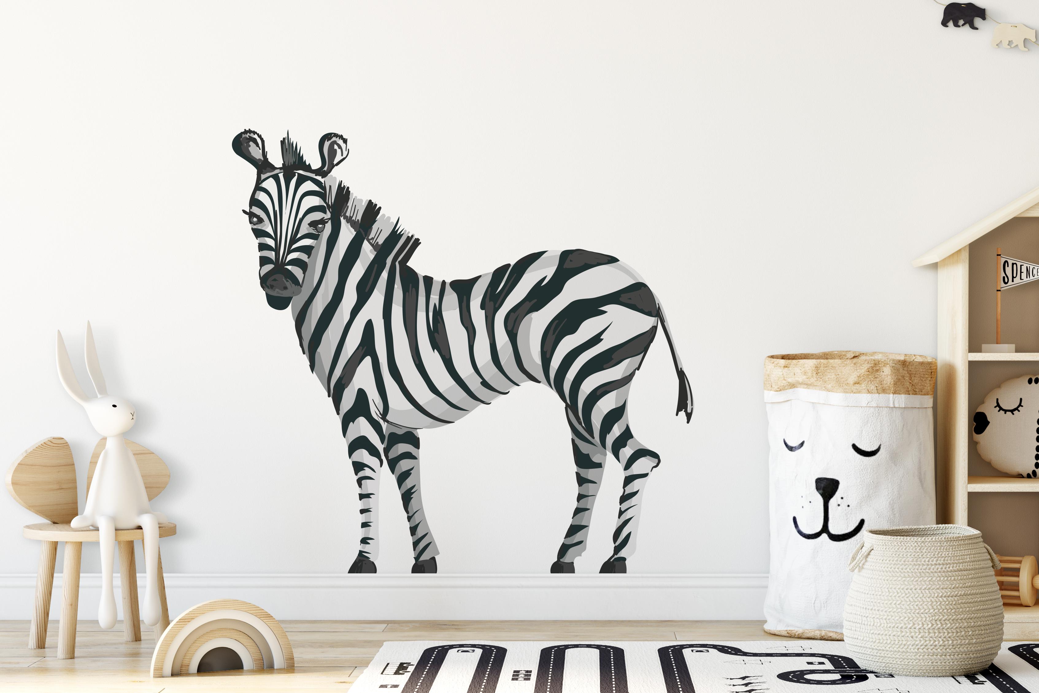 Naklejka - Zebra - fototapeta.shop