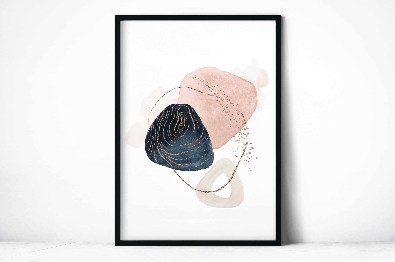 Plakat - Grafika róż i złoto - fototapeta.shop