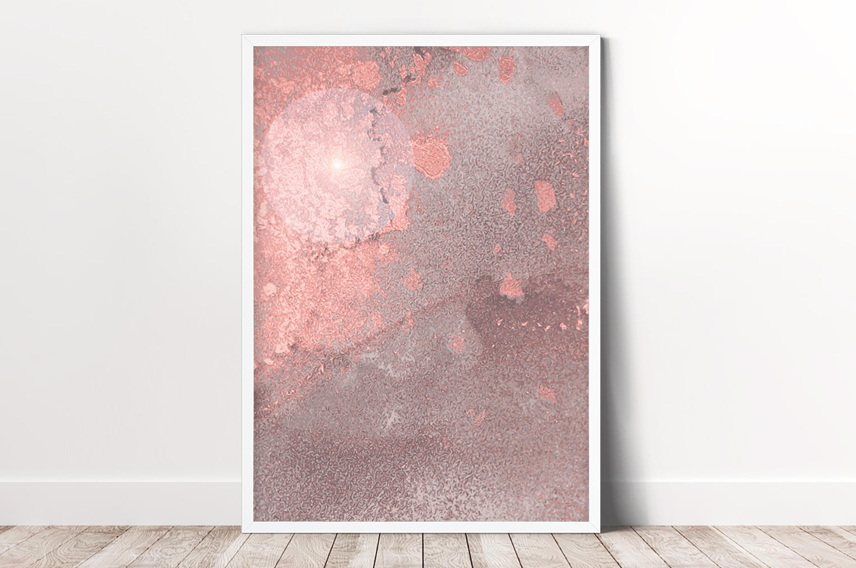 Plakat - Metaliczny róż - fototapeta.shop