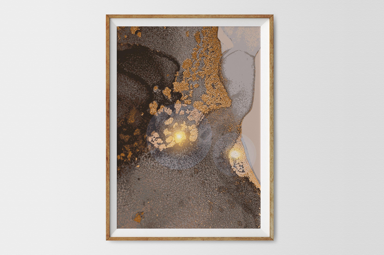Plakat - Złota grafika - fototapeta.shop