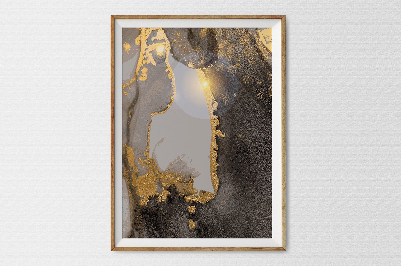Plakat - Ciemnozłota abstrakcja - fototapeta.shop
