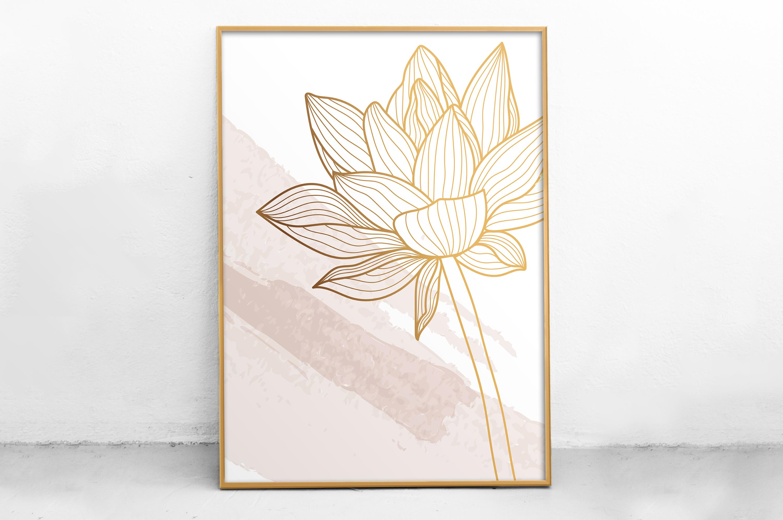 Plakat - Kontury kwiatu - fototapeta.shop
