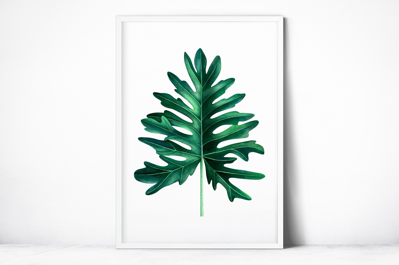 Plakat - Egzotyczny liść - fototapeta.shop