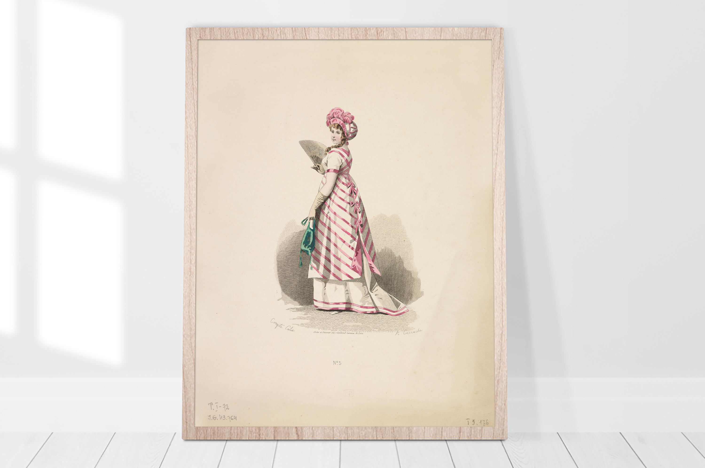 Plakat - Suknia francuska Carrache, Rytownik - fototapeta.shop