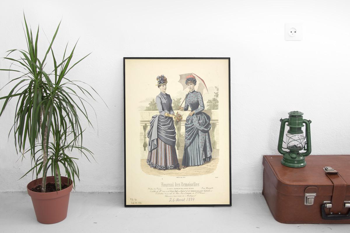 Plakat - Moda francuska XIX w. - fototapeta.shop