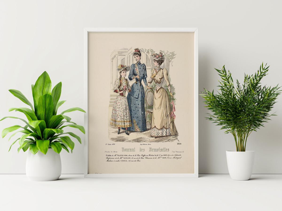 Plakat - Moda damska we francji - Chaillot, Rytownik - fototapeta.shop