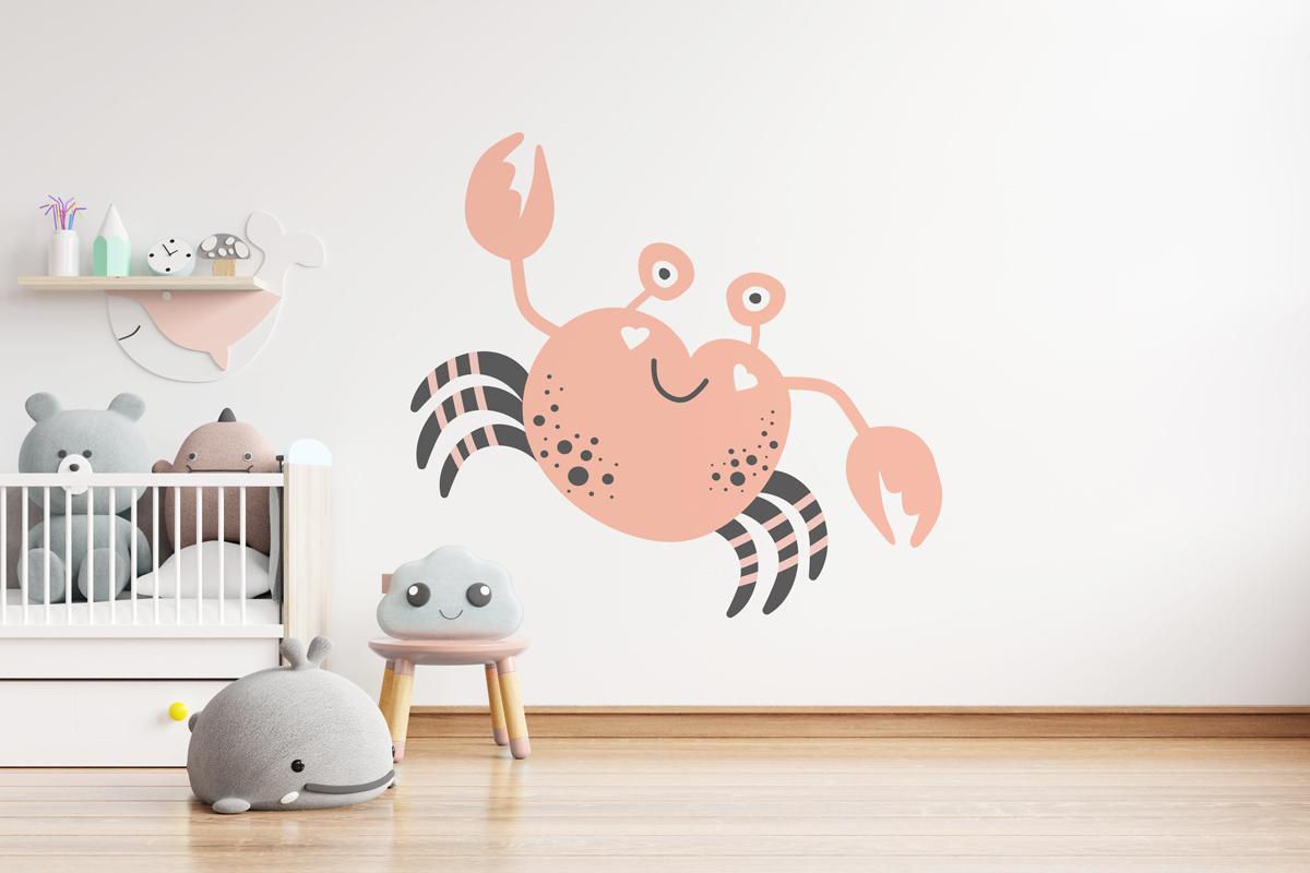 Naklejka - Różowy krab - fototapeta.shop