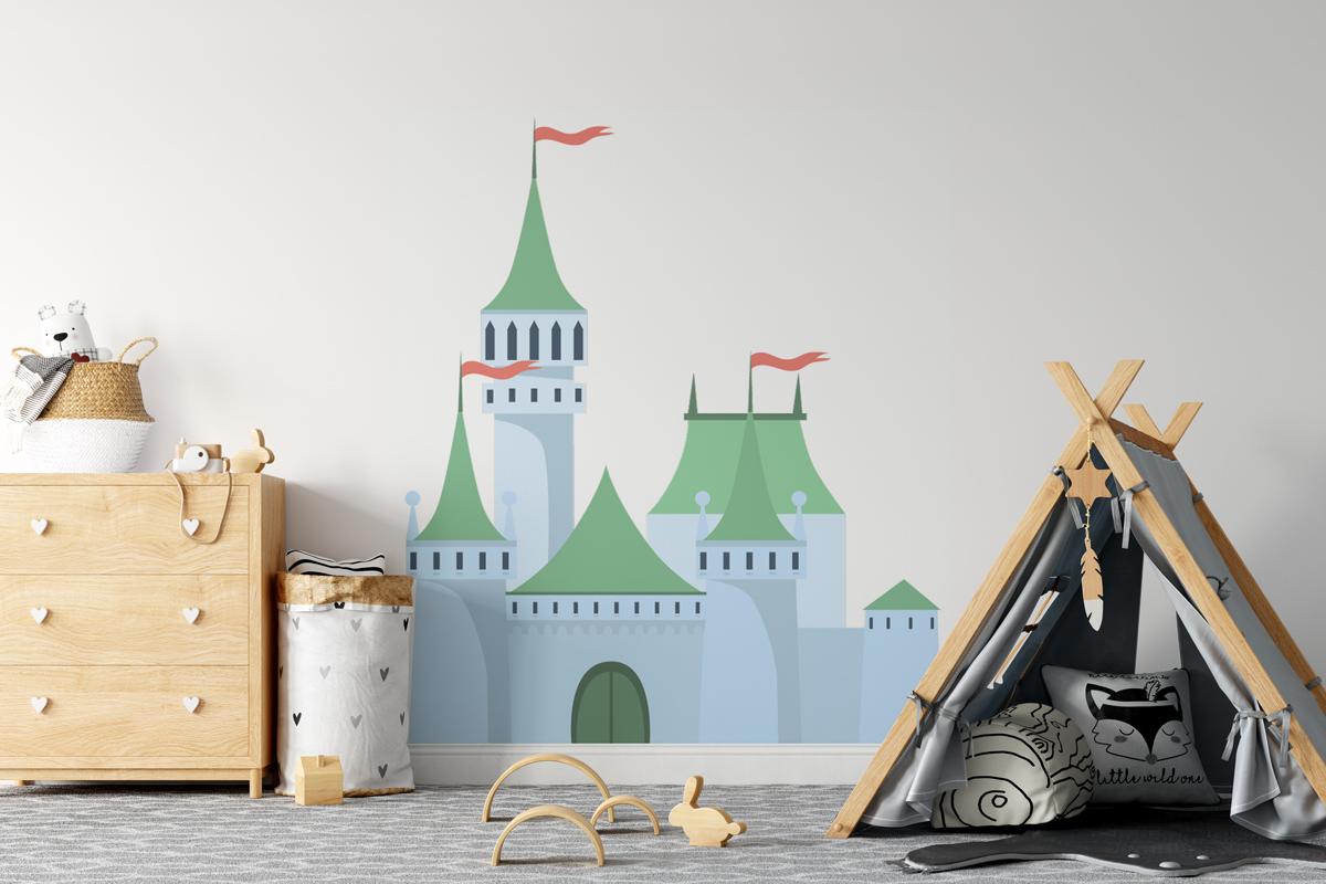Naklejka - Błękitny zamek - fototapeta.shop