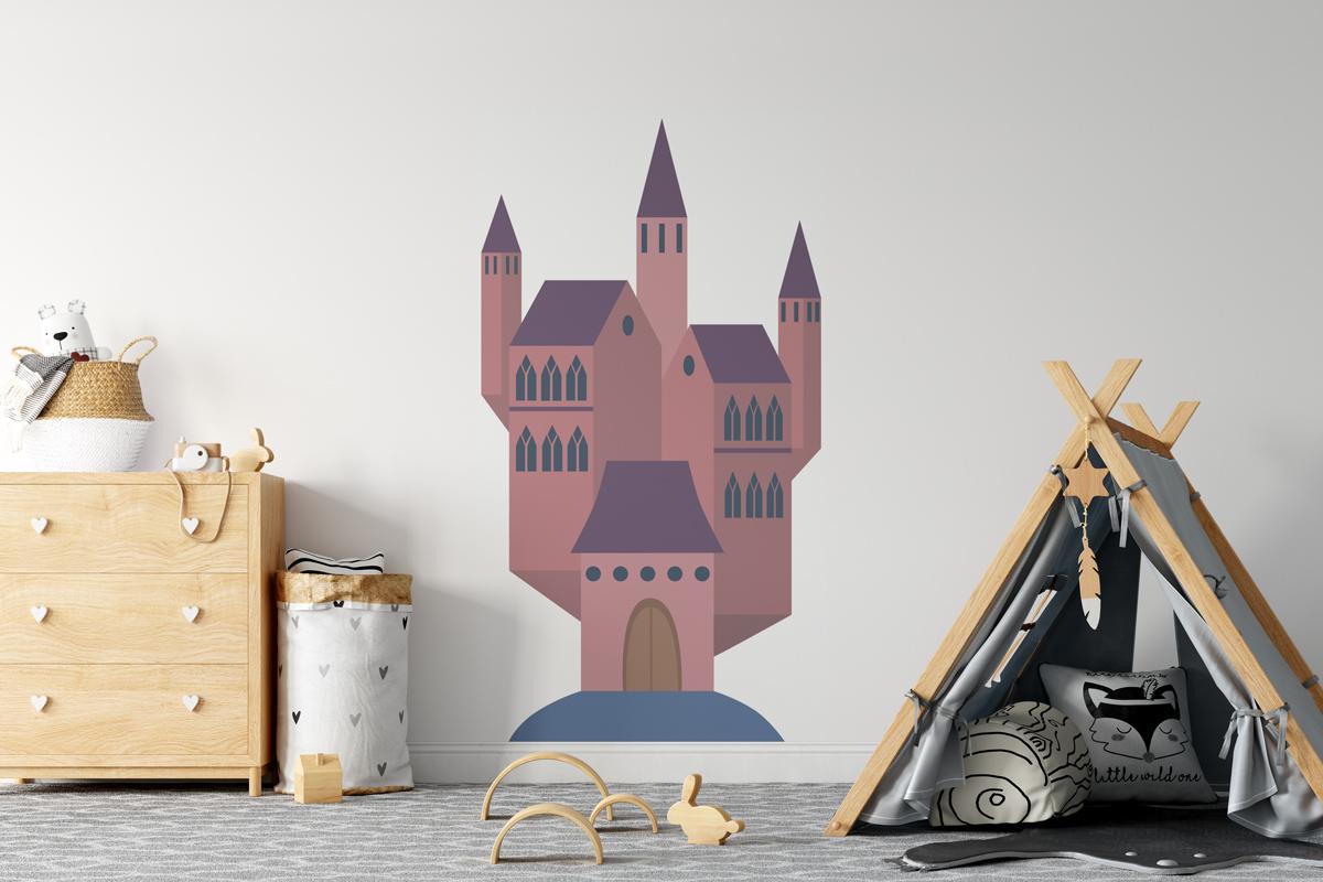 Naklejka - Fioletowy zamek - fototapeta.shop