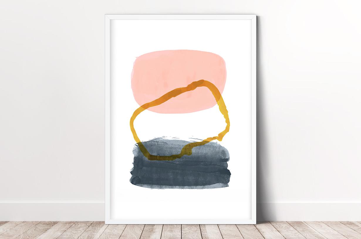 Plakat - Barwne plamy - grafika - fototapeta.shop