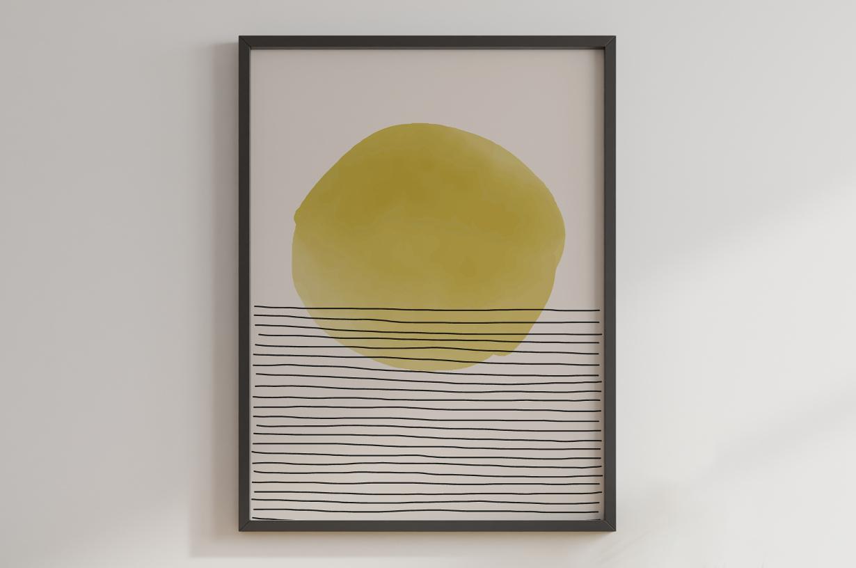 Plakat - Abstrakcyjny zachód słońca - fototapeta.shop