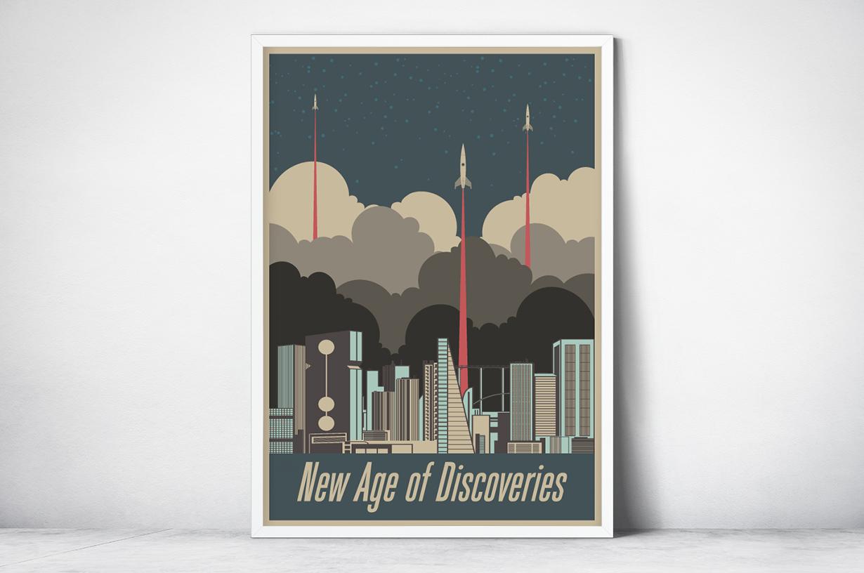 Plakat - Futurystyczne miasto - fototapeta.shop