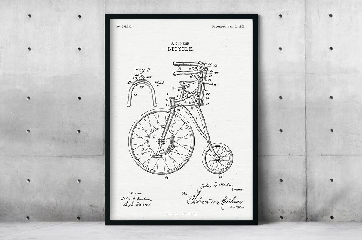 Plakat - Rower projektu Johna Hehra - fototapeta.shop
