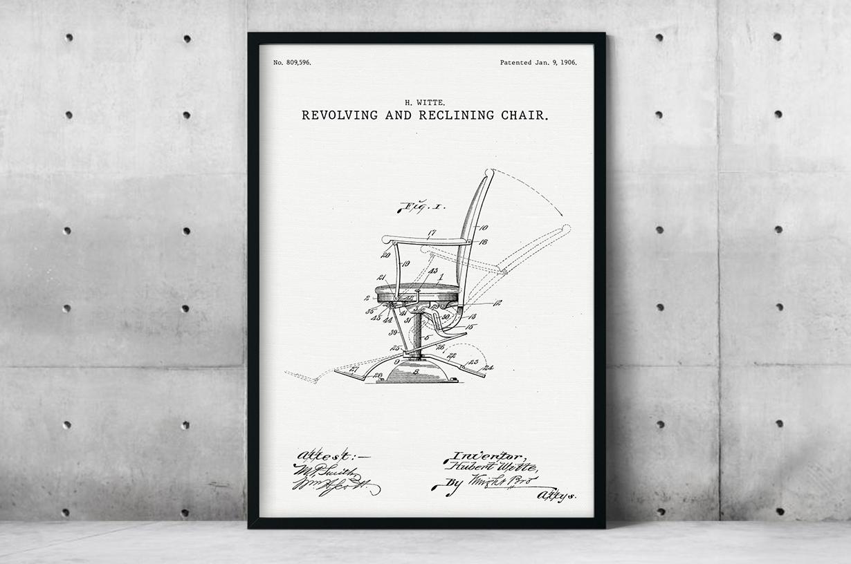 Plakat - Rozkładane krzesło projektu Huberta Witte - fototapeta.shop
