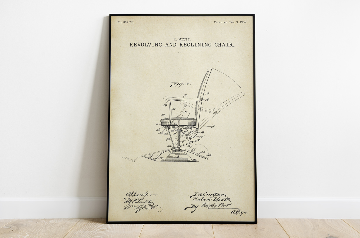 Plakat - Rozkładane krzesło retro projektu Huberta Witte - fototapeta.shop
